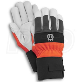 Husqvarna Heavy Duty Leather Work Gloves (One Size Fits Most)